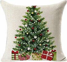 45X45cm Kissenbezug,Kingko® Weihnachtskissenbezug Wurf Taille Kissenbezug Sofa Home Decor (A)