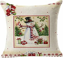 45X45cm Kissenbezug,Kingko® Weihnachtskissenbezug Wurf Taille Kissenbezug Sofa Home Decor (B)
