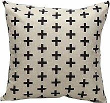 45X45cmcm Kissenbezug,Kingko® Geometriemuster Drucken Throw Pillow Case Sofa Taille Kissenbezug Home Decor,Einseitig bedruckt (H)