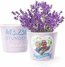46. Hochzeitstag Geschenk – Blumentopf (ø16cm)