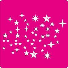 46 Stern-Aufkleber zur Dekoration von Wänden, Glasprodukten, Fliesen und allen anderen glatten Oberflächen