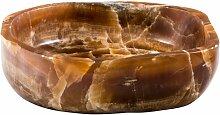 460 mm Aufsatz-Waschbecken Aya aus Stein