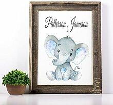 463Opher Elefant Kinderzimmer Art Boy Baby Holz