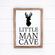 463Opher Little Man Cave Holzschild Kinderzimmer