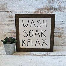 463Opher Wash Soak Relax Badezimmerschild