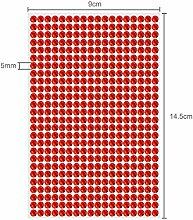 468 Strasssteine selbstklebend Glitzersteine zum Aufkleben rund Glitzer Aufkleber 5mm groß Kristalle Dekosteine Bastelsteine in ro