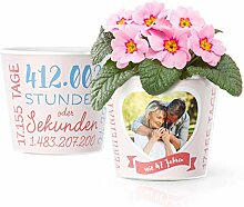 47. Hochzeitstag Geschenk – Blumentopf (ø16cm)