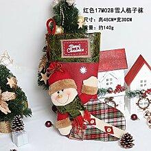 48 * 30cm Luxuxhand gestickte Weihnachtssockings