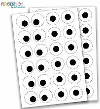 48 Augen Aufkleber - zur Dekoration - zum Aufkleber - 4 cm - Sticker