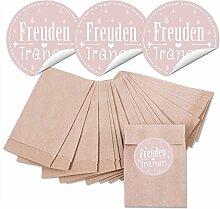 48 braune MINI Papier-Tüten Tütchen 6,3 x 9,3 cm