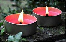 48 Flammschalen im stabilen Alutopf, 43 x 100 mm, Outdoorkerzen, Gartenkerzen, Partykerzen, Garten, Terrasse, Dekoration
