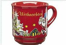 48 Glühweinbecher 0,2l feuerrot Glühweintassen Kermaikbecher Weihnachtsmarkt ro