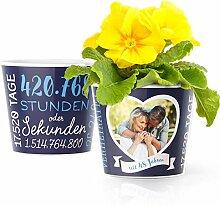 48. Hochzeitstag Geschenk – Blumentopf (ø16cm)