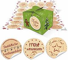 48 kleine hell-grüne Geschenkboxen
