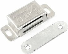 48mm Edelstahl Silber Tone Schrank Tür Magnetverschluss Latch