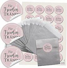 48 silberfarbene kleine Papier-Tüten Tütchen 9,5