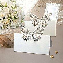 48Stück Laser geschnitten Schmetterling Vine Hochzeit Tisch Nummer Name Karte Hochzeit Party Dekoration für