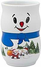 48 x Iceman 0,2l geeicht weiß Weihnachtsbecher Glühweinbecher Glühweintassen