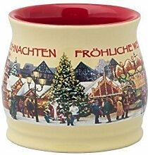 48 x Punschtöpfchen creme Weihnachtsmarkt Punschtopf Glühweintassen Glühweinbecher