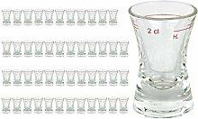 48er Set Schnapsglas WACHTMEISTER mit Eichstrich,