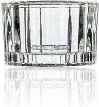 48er Set Teelichthalter ROUND H 3,6cm D 5,6cm Glas