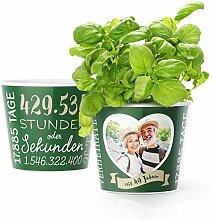 49. Hochzeitstag Geschenk – Blumentopf (ø16cm)