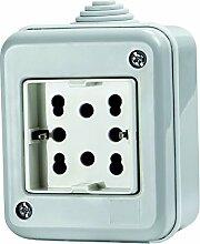 4Box 4B.ip40.h21Behälter IP40komplett-Steckdose Side, 250V, grau
