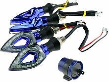 4er 12 LED Mini Blinker Motorrad Roller Quad