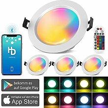 4er 15W 1200LM Bluetooth Smart LED Einbaustrahler