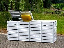 4er Mülltonnenbox / Mülltonnenverkleidung 120 L