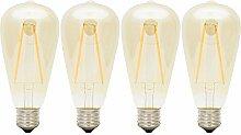 4er Pack Glühfaden LED Lampe ersetzt 10 Watt E27