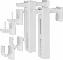 4er Pack Klemmträger Set Universal (Weiß) zur