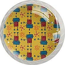 4er-Pack Küchenschrankknöpfe Griffe,Runde