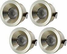 4er PACK - LED Mini Spot Aluminium Einbaustrahler