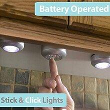 4er-Pack Runder LED-Lichter zum