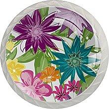 4Er-Pack Schrankknöpfe Blumenblätter Blüte