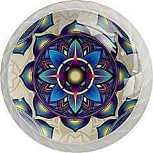 4Er-Pack Schrankknöpfe Hintergrund Kristallglas