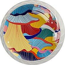 4Er-Pack Schrankknöpfe Mehrfachbild Kristallglas