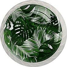 4Er-Pack Schrankknöpfe Schildkrötenblätter