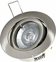4er Set 230V Power LED 7W=50Watt DIMMBAR inkl.