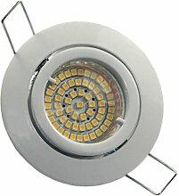 4er Set 230Volt LED SMD Einbaustrahler Lino. Spot