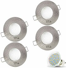 4er Set AQUA IP44 230V LED SMD 4W Warmweiß Decken
