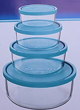 4er Set Bormiolli Frigorverre Glas