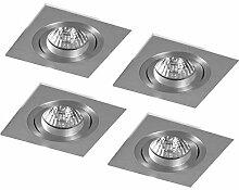 4er-Set Eco-Halogen Aluminium Einbaustrahler
