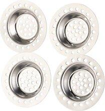 4er-Set Edelstahl-Abfluss-Siebe für Dusche,