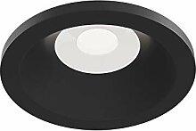 4er Set Einbaustrahler Aluminium, modern, schwarz,