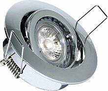 4er Set Einbaustrahler Lino + 5Watt GU10 Power LED