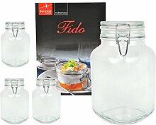 4er Set Einmachglas Bügelverschluss Original Fido
