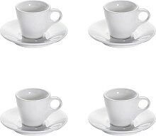 4er Set Espressotasse WHITE BASICS ROUND H. 6,5cm