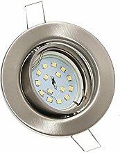 4er Set FLACHE Einbaurahmen Spot » LED